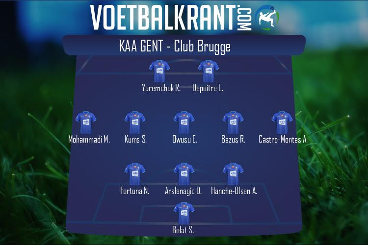 KAA Gent (KAA Gent - Club Brugge)