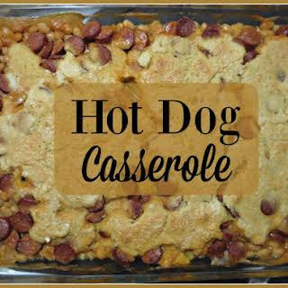 Hot Dog Casserole.