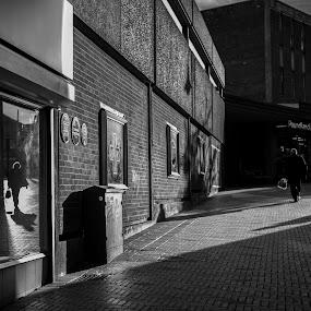 Parallel worlds by Octavian Oprea - City,  Street & Park  Street Scenes ( parallel shadow reflection widow street,  )