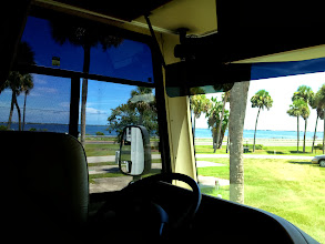 Photo: Looking out from the rig to the Indian River Lagoon