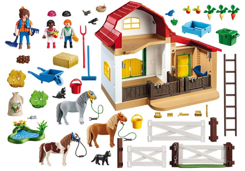 Contenido de Playmobil® 6927 Granja de Ponis