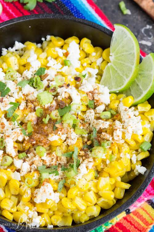 "Skillet Mexican Street Corn Recipe ""Skillet Mexican Street Corn Recipe is corn..."