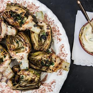 Grilled Artichokes with Lemon Garlic Aioli Recipe