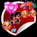Love Stickers Share icon