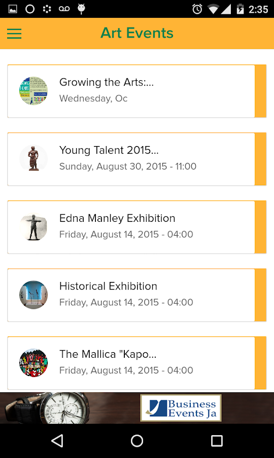 Art Events Jamaica- screenshot