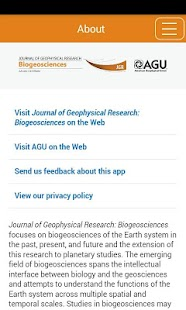 JGR: Biogeosciences- screenshot thumbnail