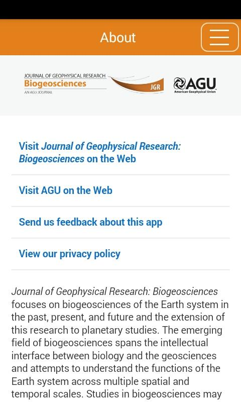 JGR: Biogeosciences- screenshot