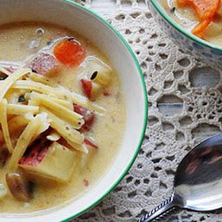 Rustic Garlic Potato Soup.