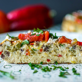 Tomato Frittata with Goat Cheese and Basil
