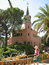 Photo: Now to the arts -- The Gaudi House and Museum in Parc Guell, Barcelona.  The park was originally designed to be a housing development  but only two houses were built.  However, the public spaces were completed and now makes a fine park.