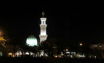 Photo: Al-Sharif Al Hussein Bin Ali moskeija iltavalaistuksessa