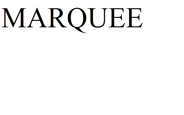 NoMarquee