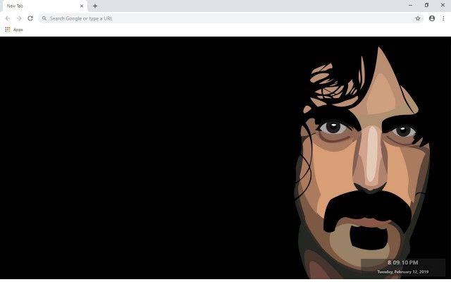 Frank Zappa New Tab & Wallpapers Collection