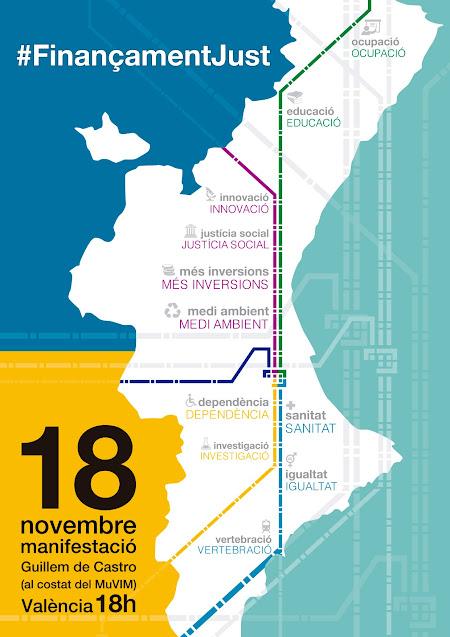 La FSMCV se suma a la manifestación del 18 de noviembre por una financiación justa
