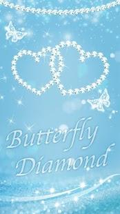 Butterfly Blue Diamond Elegant Theme - náhled