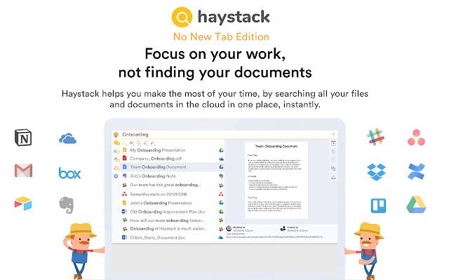 Haystack (No new tab edition)