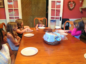 Photo: the kids waiting for the cake that Jessyca made for me!