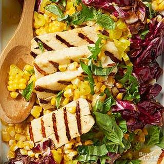Grilled Corn & Halloumi Salad