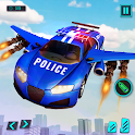 Police Flying Car Transform Robot Shooting Games icon