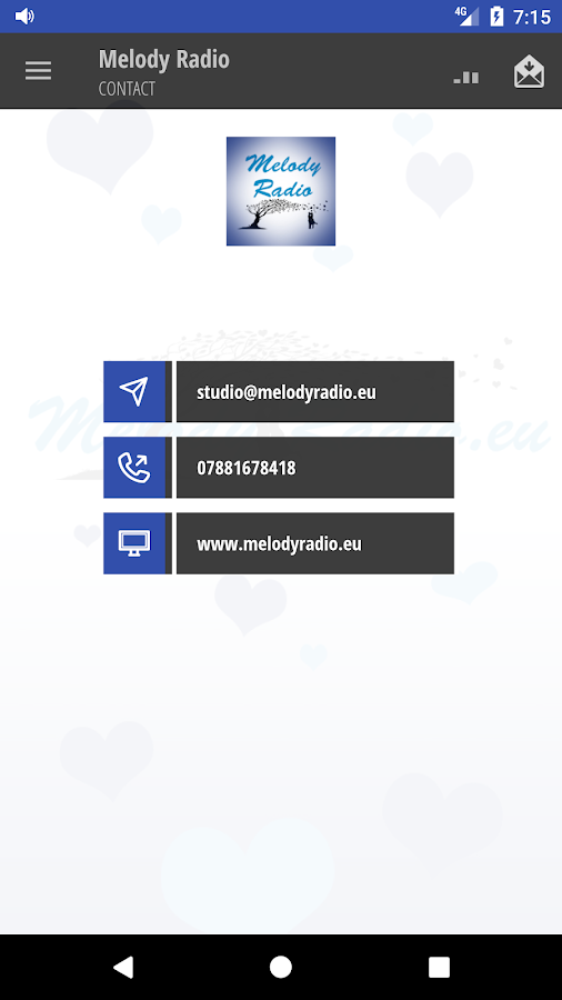 Melody Radio – screenshot