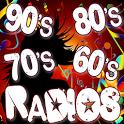 Oldies 60s 70s 80s 90s Radios. Retro Radios Free icon