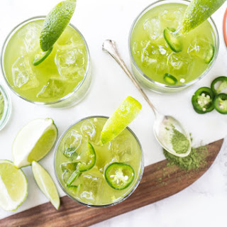 Spicy Matcha Margaritas