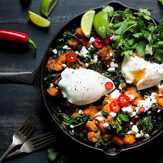 Sweet Potato Hash with Kale & Eggs.