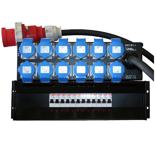 3U 12x 16A MCB Module