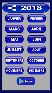 Calendrier francais 2018 - náhled