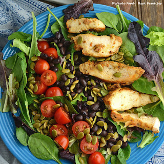 Chicken and Black Bean Salad with Creamy Cumin Lime Dressing
