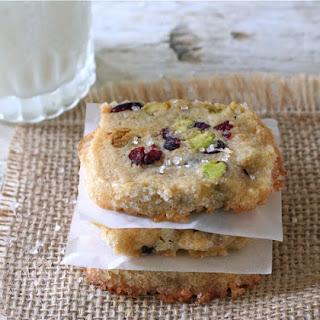 Cranberry Pistachio Icebox Cookies.