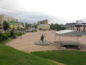 Photo: Вид с крепостного вала на главную площадь