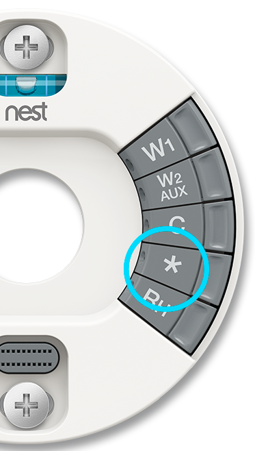 Thermostat back plate, star connector highlighted