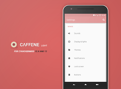 Caffene Light CM12/13 Theme v1.8.2