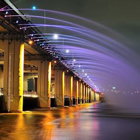 Banpo Rainbow Bridge  by Khoirul Huda - Buildings & Architecture Bridges & Suspended Structures