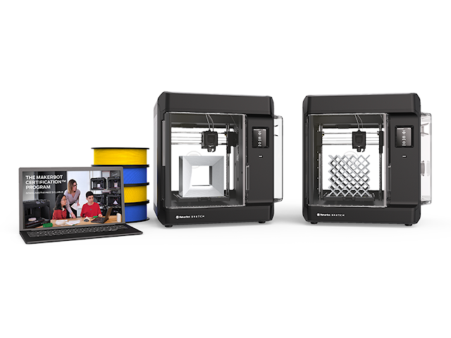 MakerBot Sketch Classroom 3D Printer Bundle + MakerBot MakerCare Protection Plan - 3-years Extended Warranty