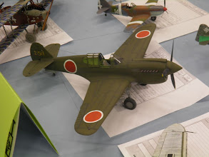 Photo: The captured P-40 was in 32nd scale.
