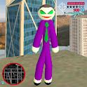 Joker Stickman Rope Hero Ganagster World icon