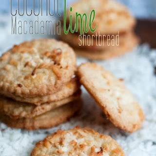 Coconut Macadamia Lime Shortbread Cookies – Gluten Free