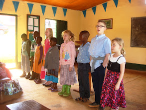 Photo: Children's Christmas chior at Bible Baptist Church in Bambili.