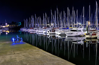 Photo: Upside Down - Light painting by Christopher Hibbert, french photographer and light painter. Further information: http://www.christopher-hibbert.com