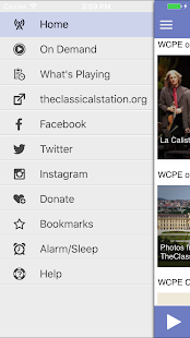 WCPE The Classical Station App– miniatyr av skärmdump
