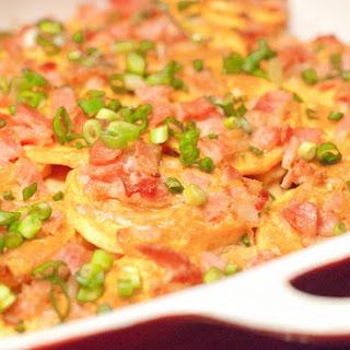 Thai Paleo Scalloped Potatoes With Bacon.