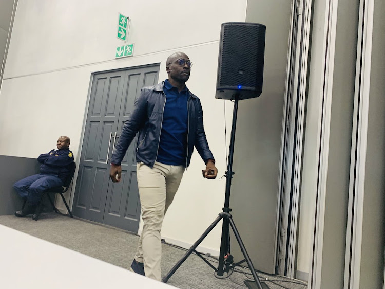 Malusi Gigaba arrives to listen to Jacob Zuma testimony at the state cpature probe July 16 2019