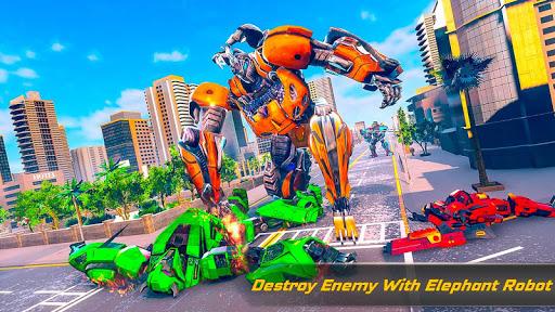 Flying Elephant Robot Transform: Flying Robot War 1.1.1 Screenshots 16