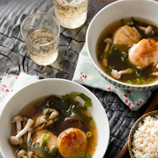 Ocean in a Bowl- Seaweed Soup with Scallops