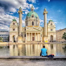 Karlskirche, Vienna by Graeme Hunter - Buildings & Architecture Places of Worship