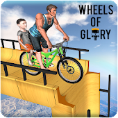 New Mega Ramp BMX Racing Stunts: MTB Downhill Race