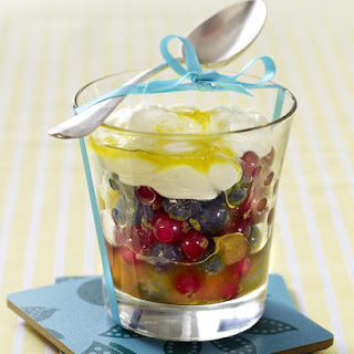 Fruit Salad With Mascarpone-Yogurt Sauce.