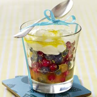 Fruit Salad With Mascarpone-Yogurt Sauce.